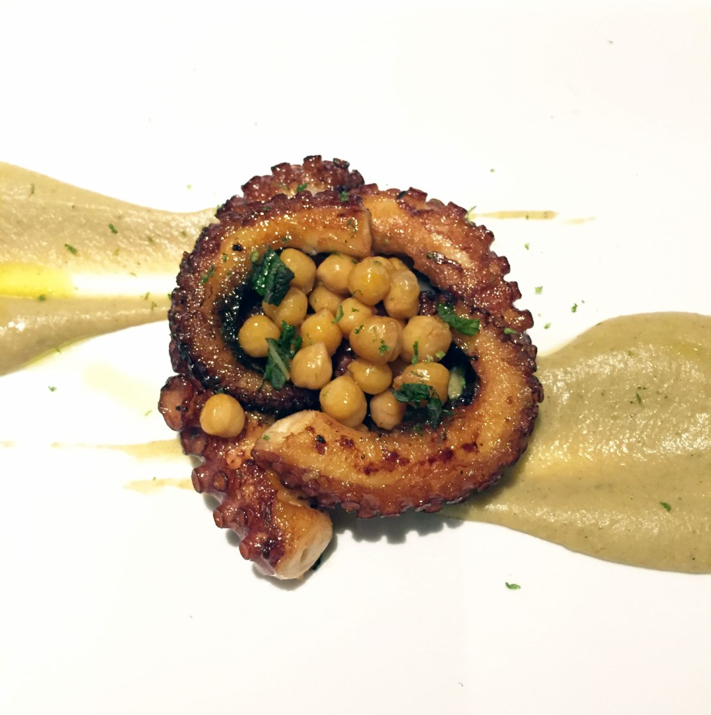 Grilled octopus, Ms. Adventures in Italy, by Sara Rosso