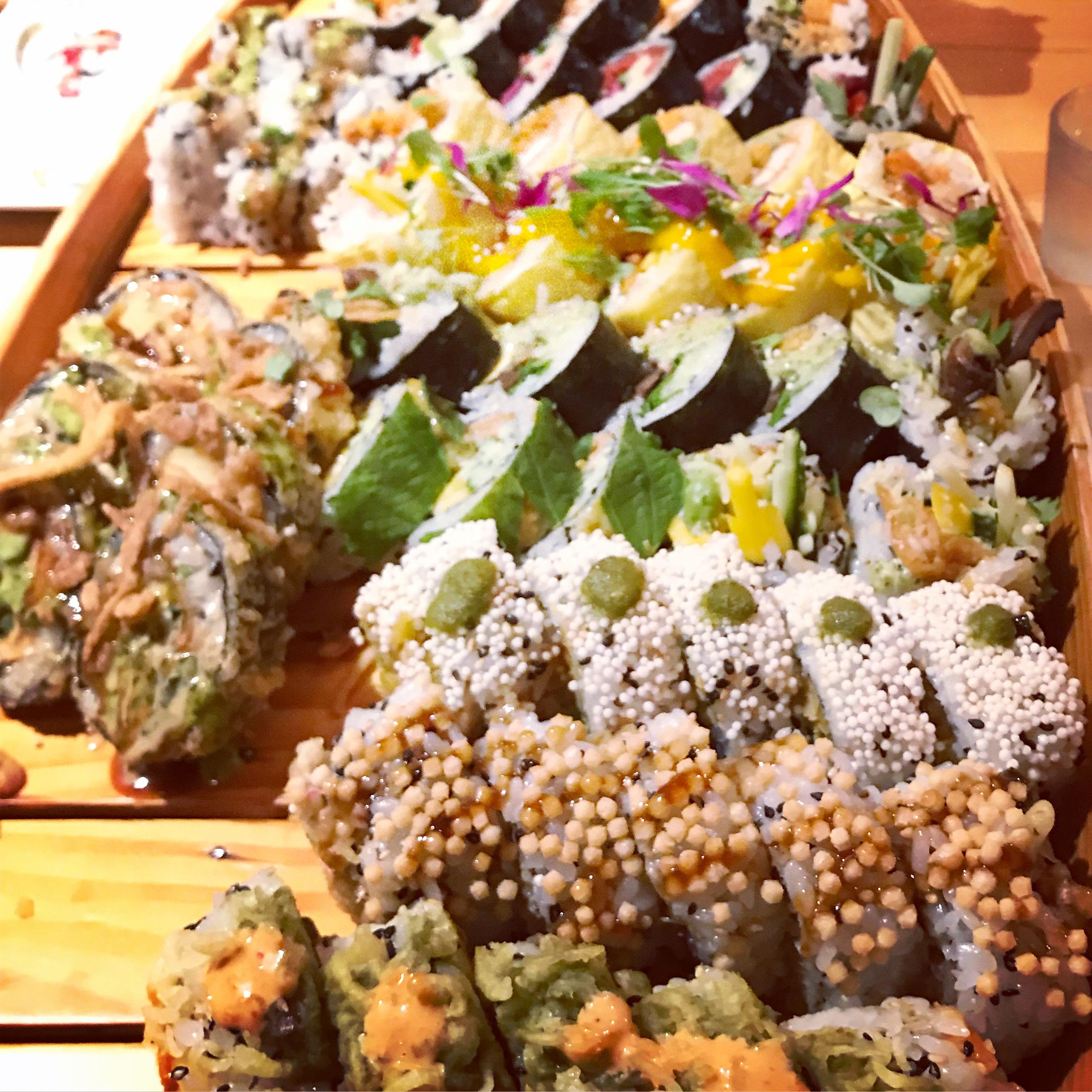 Vegan Sushi at Sushi Momo, Ms. Adventures in Italy, by Sara Rosso