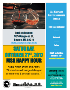 MSA Happy Hour – Boston, MA – Saturday, October 21st
