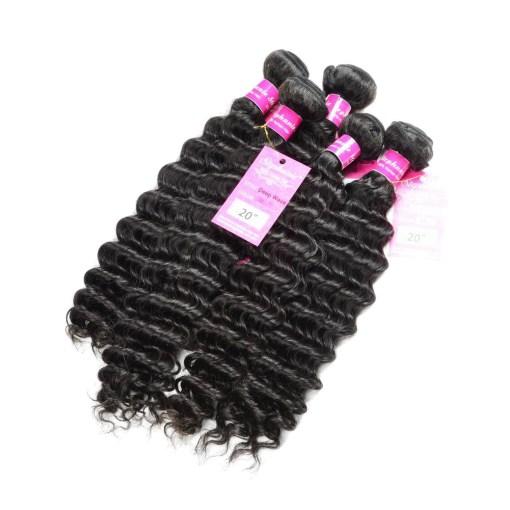 Deep Wave Human Hair Weave Bundles Deals 11
