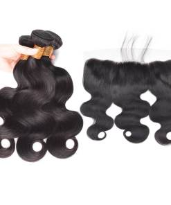 body wave hair bundles with lace frontal