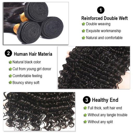 Deep Wave Bundles Human Hair