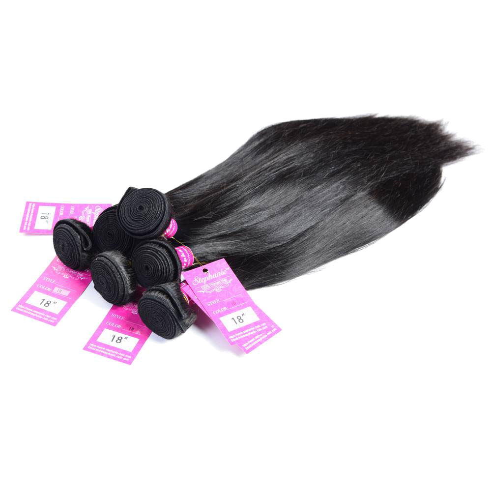 Straight Human Hair Weave 7