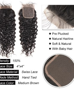 Water Wave Hair Lace Closure 5