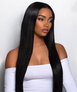 Indian Straight Hair 4 Bundles With Lace Frontal