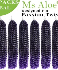Passion Twist Hair Purple Ombre Water Wave