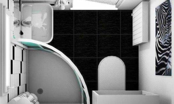 Интерьер ванной комнаты - 20 фото (вид сверху)