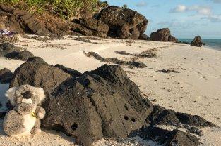 Sur le sable de Maupiti