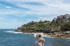 Sur la promenade de Bondy Beach à Sydney