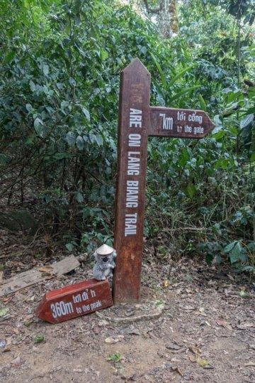 En plein trek sur le mont Lang Biang au Vietnam
