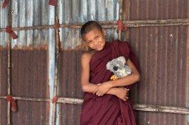 Avec mon ami le moine qui m'a fait tourner la tête !