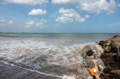 Repos bien mérité sur la plage de Tangalle