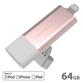 【在庫限り製品】AddOn Pendrive iFlash Pro 64GB Rose Gold
