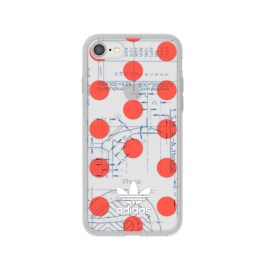 adidas Originals 70S Clear Case iPhone 8 Red/White