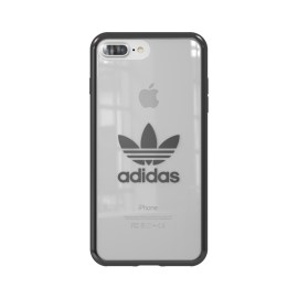 adidas Originals Clear Case iPhone 8 Plus Gunmetal Logo
