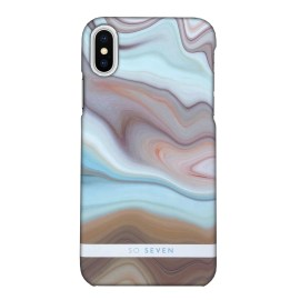 SO SEVEN MARBLE BLUE for iPhone X
