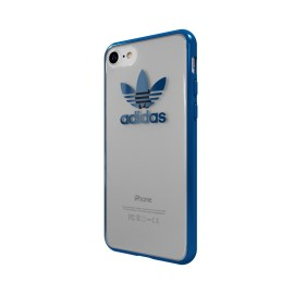 【取扱終了製品】adidas Originals TPU Clear Case iPhone 7 Blue Metallic
