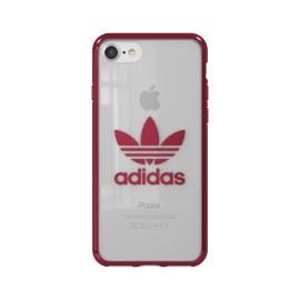 adidas Originals Clear Case iPhone 8 Burgundy Logo
