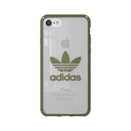 adidas Originals Clear Case iPhone 8 Military Green Logo