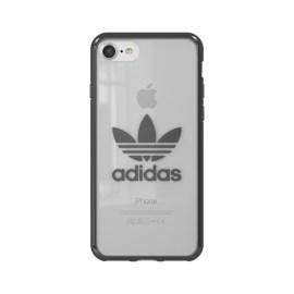 adidas Originals Clear Case iPhone 8 Gunmetal Logo
