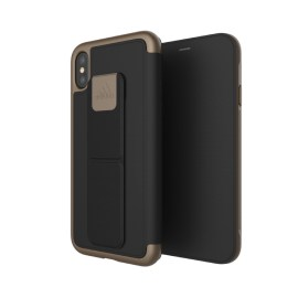 adidas Performance Folio Grip Case iPhone X Black/Gold Metallic