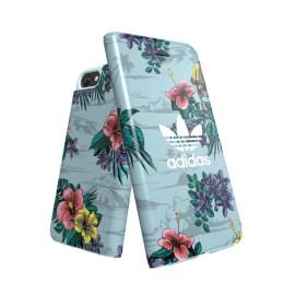 adidas Originals Floral Booklet case iPhone 8 Ash Grey