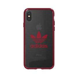adidas Originals Clear Case iPhone X Collegiate Burgundy Logo