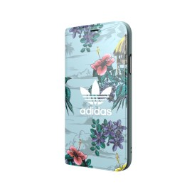 【取扱終了製品】adidas Originals Floral Booklet case iPhone X Ash Grey