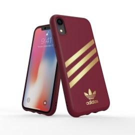 adidas Originals Moulded Case SAMBA iPhone XR Burgandy/Gold