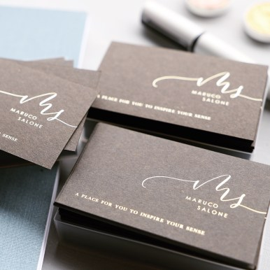Gold foil shop cards