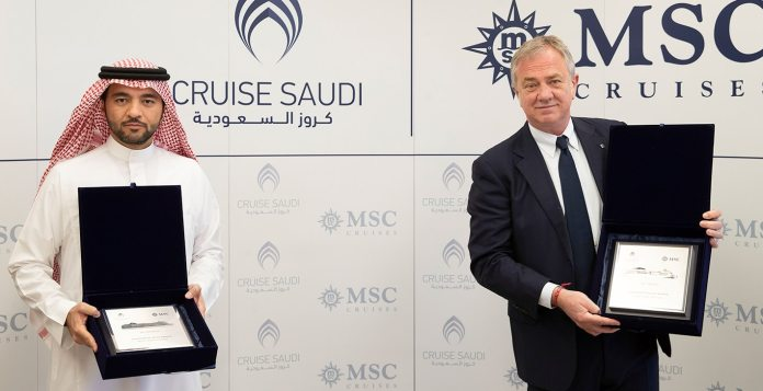 MSC Cruises signs landmark agreement with Cruise Saudi to bring its ships  to Saudi Arabian waters   MSC Cruises