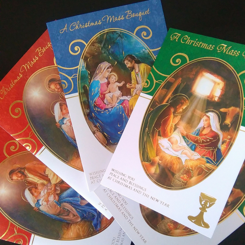 Christmas Mass Cards Set 1 Pack Of 5 Missionaries Of