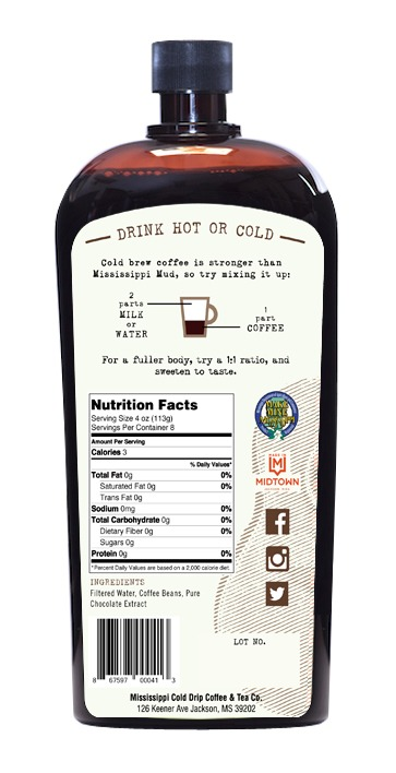 Mississippi Mocha back label
