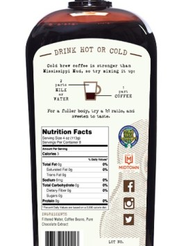 "Cold Brew Coffee Concentrate ""Mississippi Mocha"" 32-Ounce"