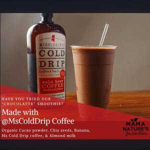 New Partner: Mississippi Cold Drip at Mama Nature's Juice Bar