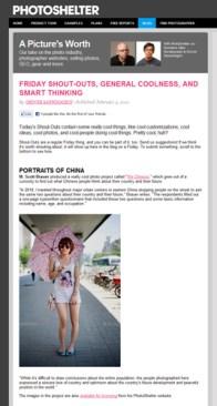 We Chinese - featured on the Photoshelter Blog