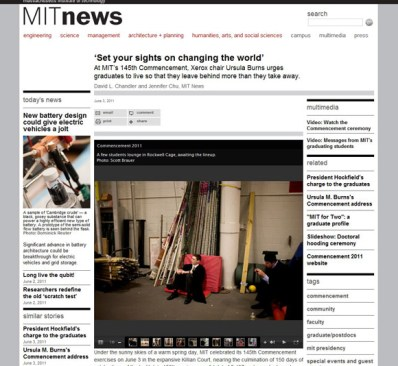 MIT News Office - coverage of the 145th Commencement