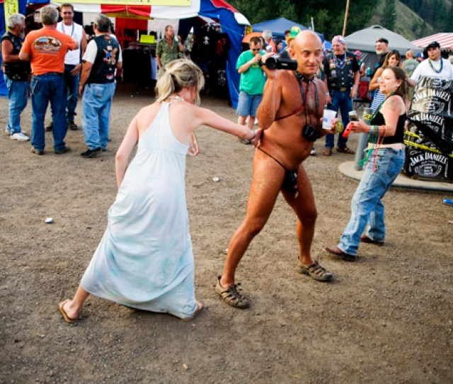 People Whip And Spank A Man Wearing Little At The Testicle Festival At The Rock Creek Lodge In Clinton Mt The Rock Creek Lodge In Clinton Mt