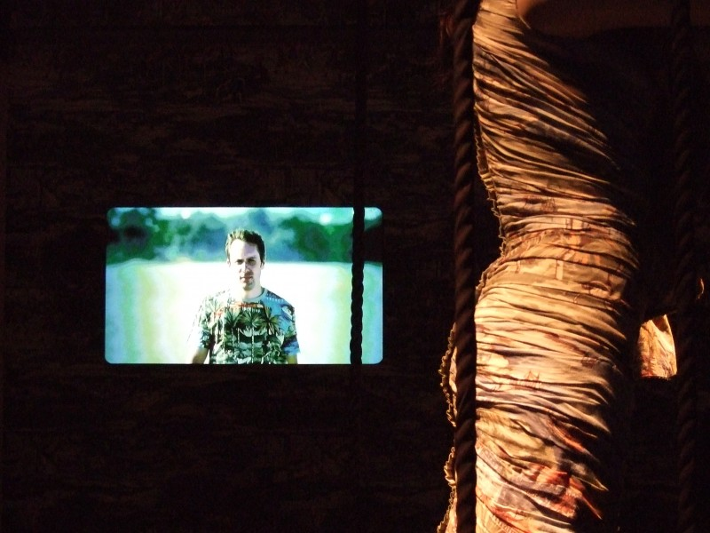 Ruched Dress and video installation