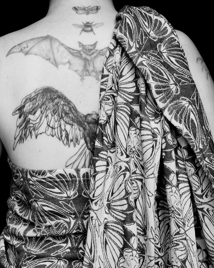 close up of my tattoos and the wrap