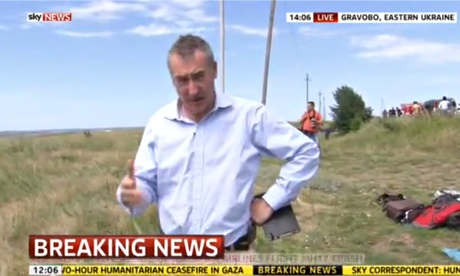 Brazier reporting from the MH17 crash site