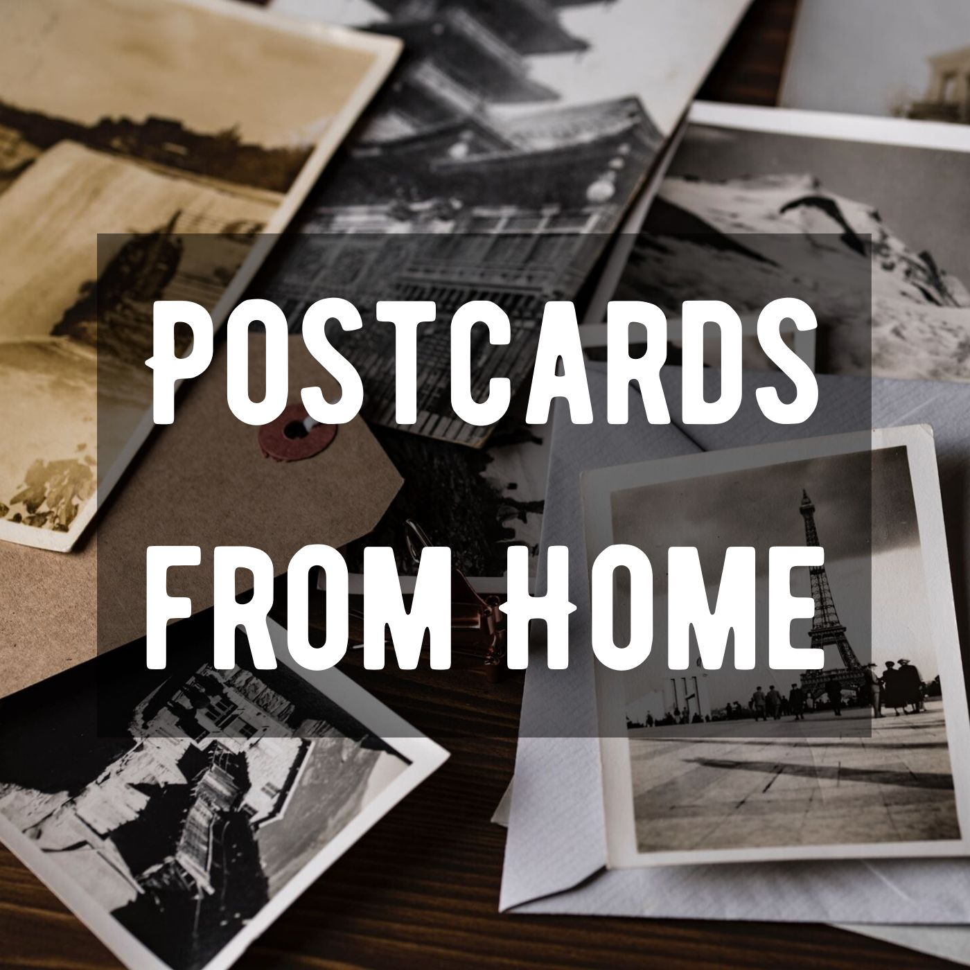 image that says postcards from home