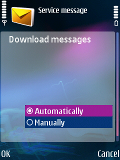 Nokia Service Message Settings