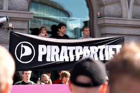 Korsan Partisi gösterisinden bir kare