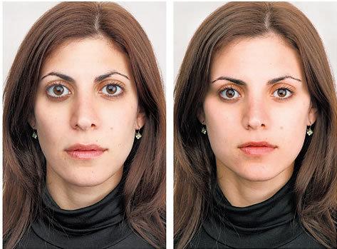 yüz simetrisi
