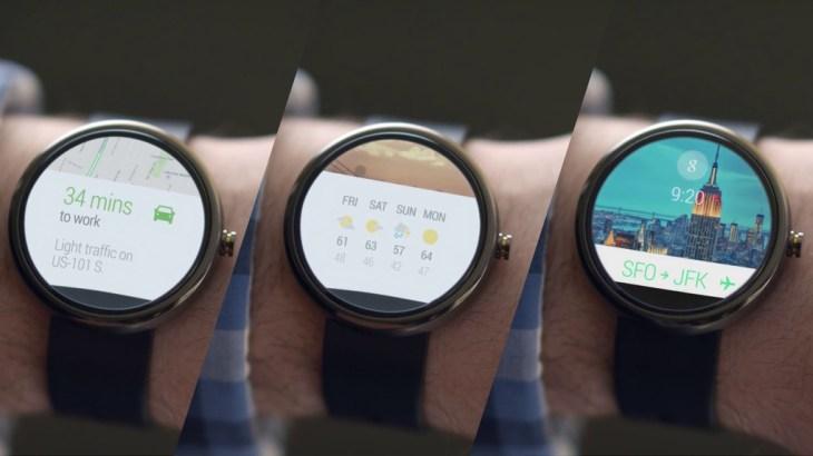 Android Wear serisi saatlere ait konseptler.