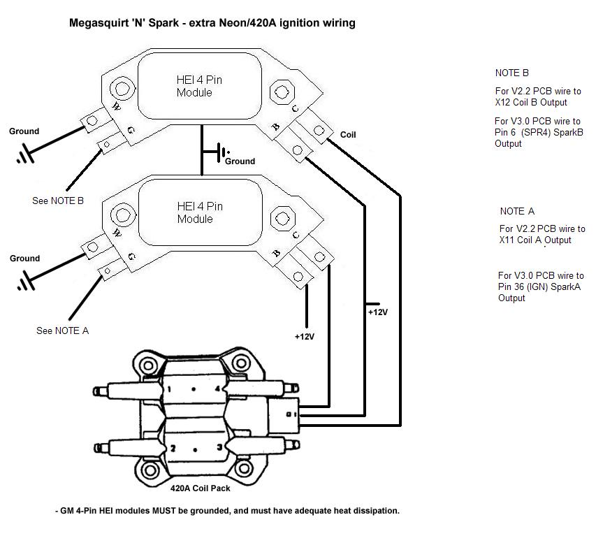 gm 4 pin ignition module wiring harness gm auto wiring Ford Ignition Module Wiring Diagram Ford Ignition Module Wiring Diagram