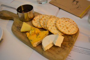 A nice way to finish a delightful meal - the cheeseboard!