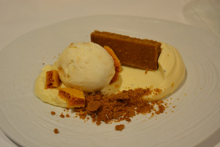 Gingerbread 'Cheesecake' w/Honeycomb Ice-Cream