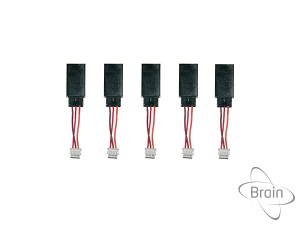 Set of 5 cables JR male to JST